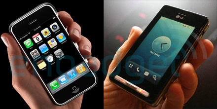 Iphone vs LG KE850 (2)