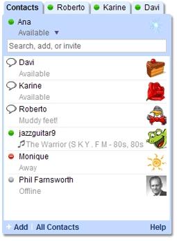 Gtalk en la portada personalizada de Google