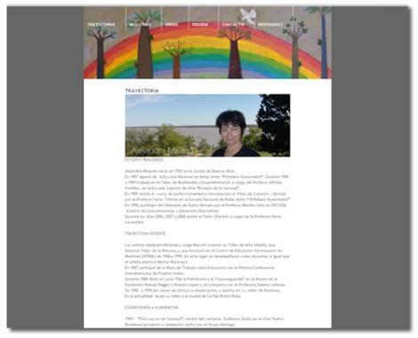 Alejandra Miranda - website+blog
